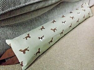 Weighted Reversible Sophie Allport Spaniel Dogs Fabric Draught Excluder Washable