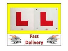 2 L PLATES MOTORCYCLE SCOOTER CAR LORRY VAN QUAD 1 x HARD PLASTIC 1 x STICK ON