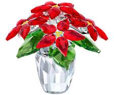 SWAROVSKI POINSETTIA LARGE BRAND NEW IN BOX #5291024 RED FLOWERS X-MAS F/SH