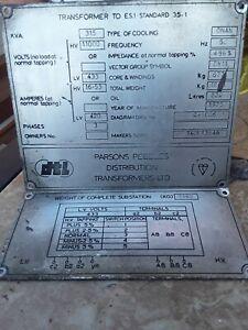 Vintage 1975 Parsons Peebles Distribution Transformers Id Sign 1