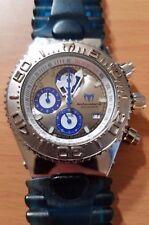 TechnoMarine Yacht-Y1 200M men analog chronograph diver's watch silver/blue