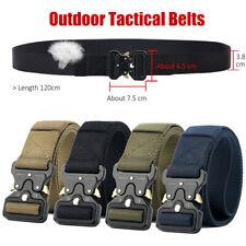 Sgancio rapido lavoro cintura tattico esercito Mens nero Nylon cintura fibbia