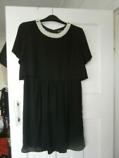 Topshop black and pearl cape dress BNWT size 10