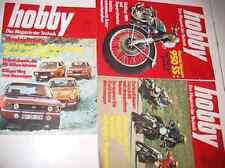 3 QUADERNI Macchina + Moto Test HOBBY TECNICA rivista 1971