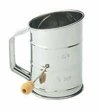 Mrs. Andersons Baking Hand Crank Flour Icing Sugar Sifter Stainless Steel