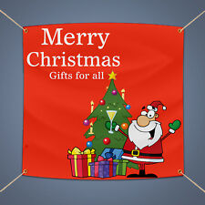 Merry Christmas Gift for all Vinyl Banner, 3' X 2' Outdoor Party Decor Pvc Sign