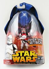 New Star Wars Revenge Of The Sith Red Shock Clone Trooper #6 Variant 2005 Figure