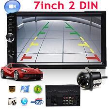 "2Din Car 7"" MP5 Audio Stereo Player Radio USB FM Bluetooth +Rear View Camera New"