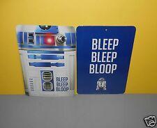 New Star Wars R2D2 Two Sided Wall/Door Signs Bleep Bleep Bloop - Force Awakens