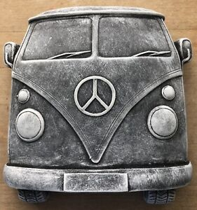 Latex mould WITH FIBREGLASS MOTHER MOULDfor making this Volkswagen Plaque