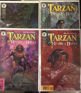 TARZAN Rivers of Blood 4 X DARK HORSE COMICS ISSUE #1 #2 #3 #4Bagged & Boarded