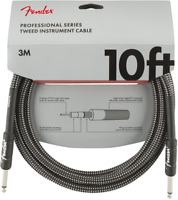 Genuine Fender Professional Series Guitar/Instrument Cable, GRAY TWEED - 10' ft
