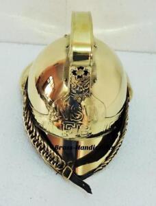 Vintage Fire Bridge British Full Brass Fireman Helmet NSW FB Soft Liner Replica