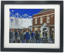 More details for warrington wolves. high quality framed rugby league art print. approx a4