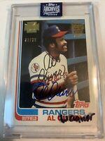 Al Oliver 2020 Topps Archives Signature AUTO #'d 25/28 1982 Rangers Pirates