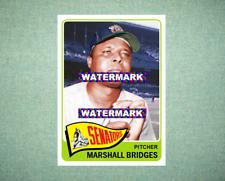 Marshall Bridges Washington Senators 1965 Style Custom Baseball Art Card