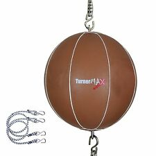 TurnerMAX Leather Double End Speed Balls Dodge Punch Ball Straps Martial Arts