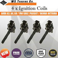 4 Ignition Coils for Audi A3 A4 & Volkswagen Golf Passat & Skoda Octavia