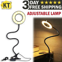LED Desk Light Reading Lamp Clip Dimmable Table Lamp Bedside Bed Working Lights