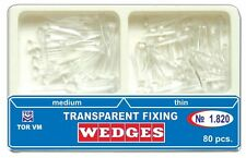 Dental Transparent Fixing Plastic Wedges 80 pcs TOR VM 1.820