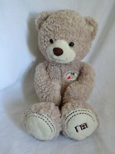 """MOTHERCARE Made with Love Large Beige Teddy Bear Soft Cuddly  Toy 18"""""""
