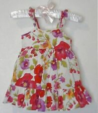 Baby Gap Girls Ivory Floral Sundress Dress Size 0-3 Months EUC