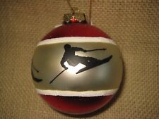 Midwest of Cannon Alpine Downhill Skier Ball Christmas Tree Ornament