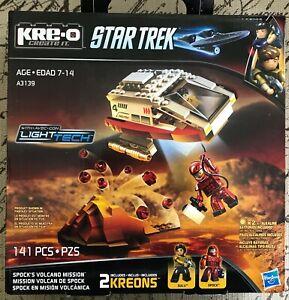 KRE-O Kreo Star Trek Spock's Volcano Mission Construction Set A3139 141 Pieces