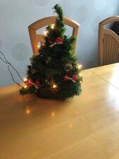 50 cm Baum beleuchtet Weihnachtsdeko Fensterlicht Weihnachsbaum Holz Schnee