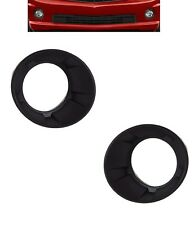 DRIVER AND PASSENGER SIDES BLACK FOG LIGHT TRIM BEZELS FOR 2010-2013 CAMARO
