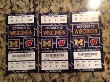 1 Michigan Wolverines V.S Wisconsin Badgers Football Ticket Stub Oct.13,2018