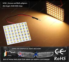 LED SMD T10 W5W 501 Ba9s T4W Festoon C5W Warm White Interior Dome Light Bulb 12v