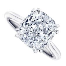 18kt I SI 2.00ct Solitaire Cushion Cut Diamond Engagement Ring Certified