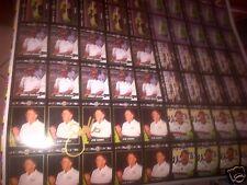 Joe Gibbs SIGNED  Dale Jarrett  #18 TEAM of 1992 UNCUT Sheet of Collector Cards