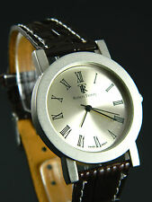 Rare  ROBERT TRINITY men's watch silver tone face