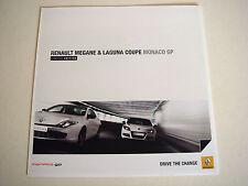 Renault Megane & Coupe. Laguna. Monaco Gp. FOLLETO de ventas de marzo de 2011