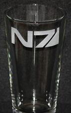 Mass Effect N7 Symbol Custom Etched Pint Glass