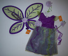 NWT Gymboree Pretty Pixie M 7-8 Purple Fairy Costume Wings & Wand
