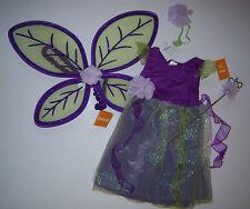 NWT Gymboree Pretty Pixie M 7-8 Purple Fairy Costume Wings & Wand