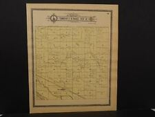 Nebraska Dawson County Map Willow Island Township c.1904 J10#31