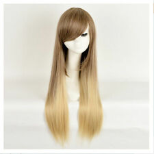 FIXSF858 new fashion long brown Blonde straight women Ombre Hair wig Wigs