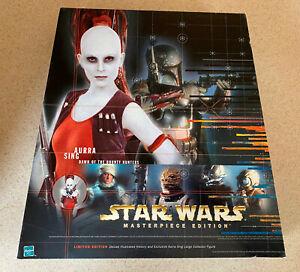 "STAR WARS MASTERPIECE EDITION (1998) -- AURRA SING (A) -- 12"" Figure W/ Book"