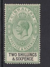Gibraltar 1925  KGV  2/6d Green & Black   SG.104  Mint (Hinged)