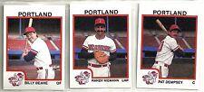 1987 Pro Cards 25-card Portland Beavers Minor League Team Set Billy Beane
