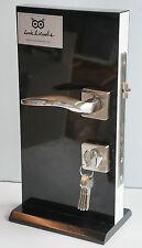 External Door Handle Brushed Steel Chrome Effect M130