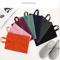 Portable Oxford Cloth Bag Travel Shoe Storage Bags Foldable Dust Organizer Tote