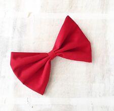 Rojo Pin Up Rockabilly Grandes arco de pelo