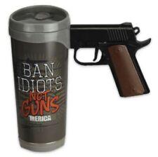 River's Edge Ban Idiots Not Guns 16 Oz. Pistol Mug - FREE SHIPPING!