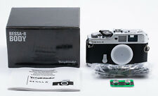 (69) Voigtlander Bessa R body chrome Leica SM cap strap booklet box NEW PLS READ