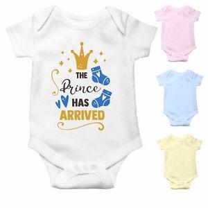 The Prince has arrived   Newborn Baby Boy Baby Grow   Baby Bodysuit Baby Vest